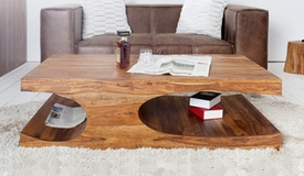 Table basse design bois massif - Riga