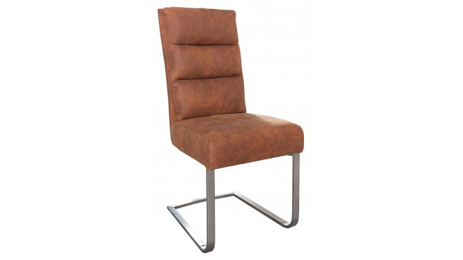 Chaise design en tissu matelassé - Conwy