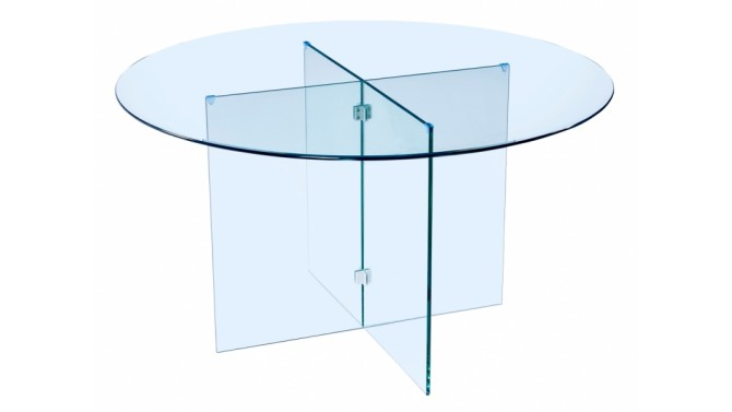 Grande table ronde en verre design - Moe