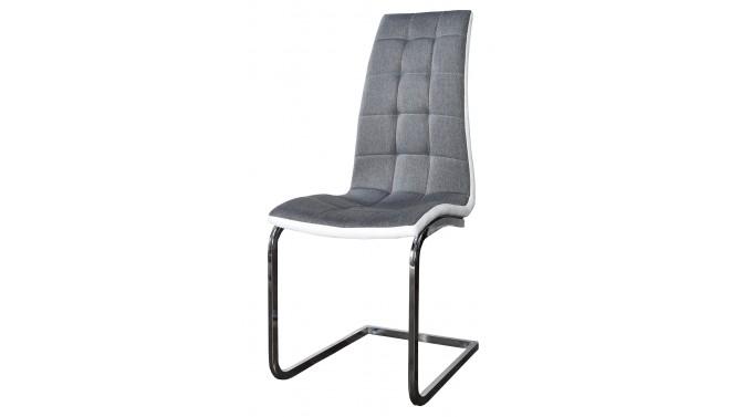Chaise moderne tissu et simili cuir - Gareth