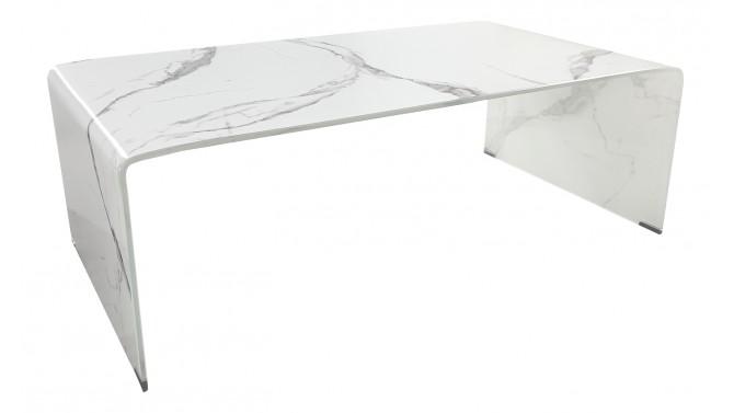 Table basse verre décor marbre - Kingston