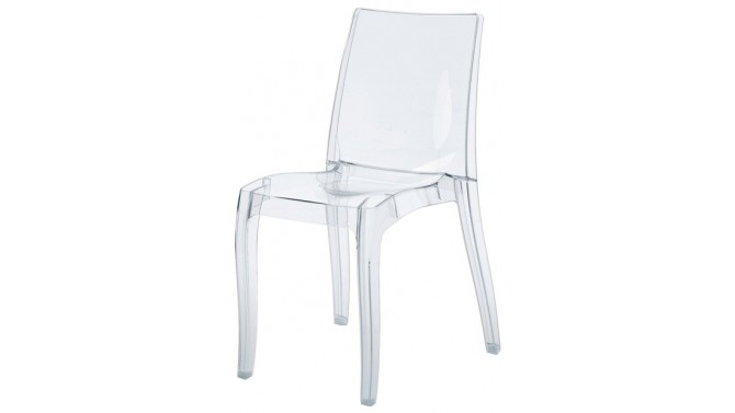 Chaise design en polycarbonate transparent - Gloria