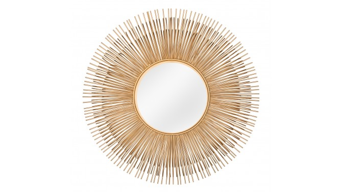 Miroir rond design métal couleur or - Denton