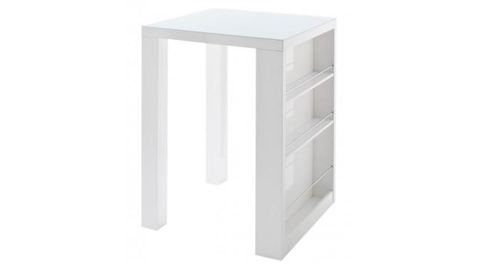 Bar design blanc plateau verre - Joe