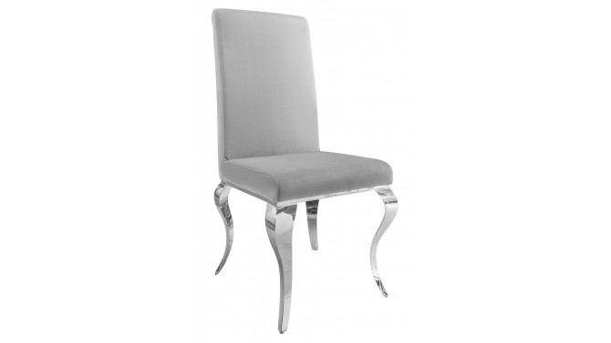 Chaise velours baroque gris - Zita