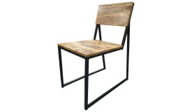 Chaise industrielle bois massif - Gunther