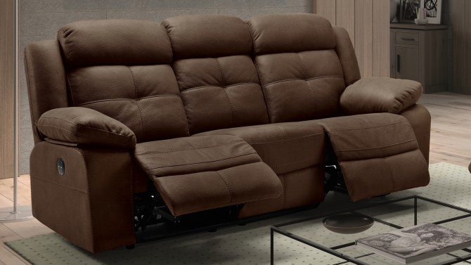 Canapé de relaxation 3 places électrique - Simon