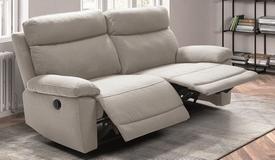 Canapé 3 places relax électrique tissu - Parati