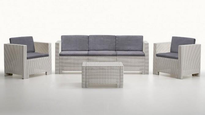 Salon de jardin 3+1+1 + table - Orlando XL