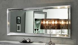 Miroir design rectangulaire argenté - Trenton