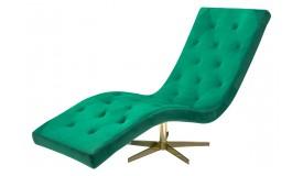 Chaise longue fauteuil relax en velours - Sven