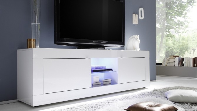 Meuble TV design à LED lumineux - Lernig