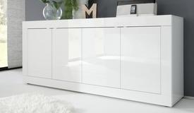 Buffet 4 portes moderne laqué blanc - Lernig