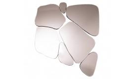 Miroir rosé contemporain à facettes - Piana