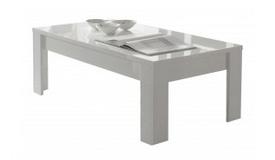 Table de salon laquée blanche - Konrad