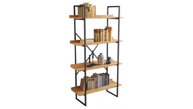 Étagère design industrielle bois et métal - Walter