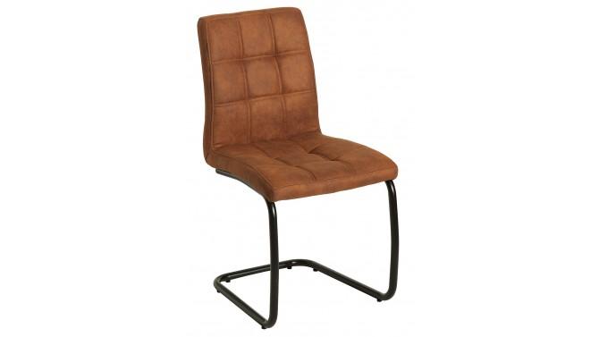 Chaise design microfibre - Brown