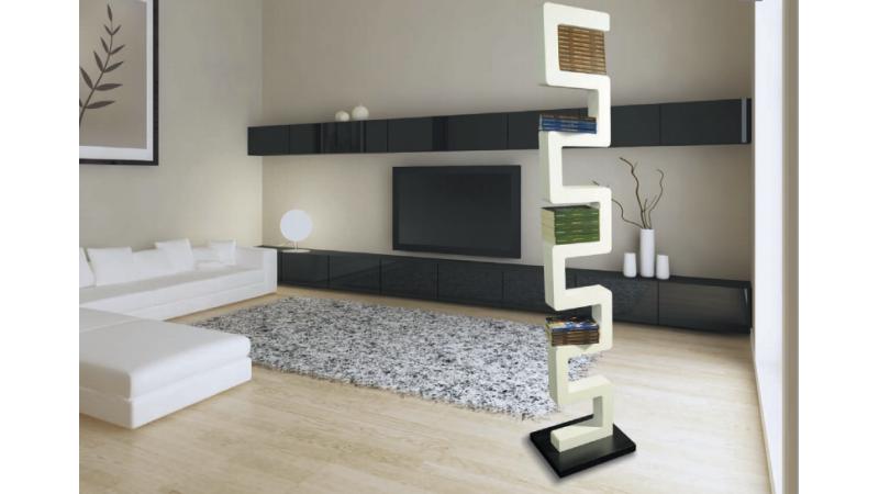 tag re zagan finition laqu e blanche et socle de couleur noir gdegdesign. Black Bedroom Furniture Sets. Home Design Ideas