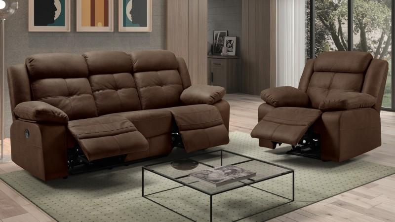 Salon complet moderne électrique relax 3+1 - Simon