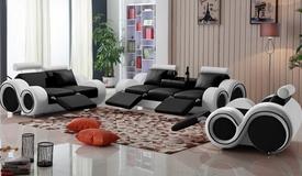 Salon complet 3+2+1 relax en cuir - Carlson