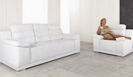 Salon moderne confort complet 3+1 en cuir - Goran