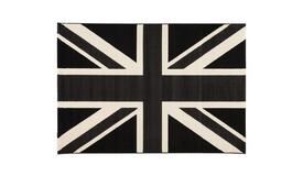 Tapis Union Jack anglais noir et blanc - Poole