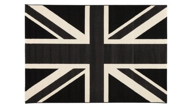 Tapis Union Jack drapeau anglais noir et blanc - Poole