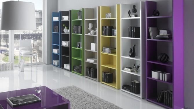 Bibliothèque moderne avec étagères - Mirko