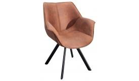Chaise design tissu microfibre - Stone
