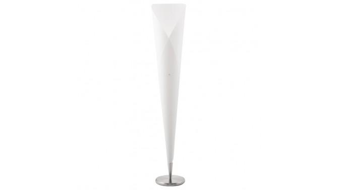 Lampadaire original blanc en polypropylène - Cornet