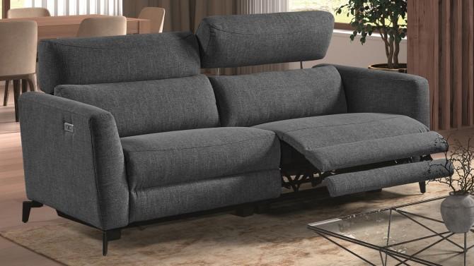 Canapé 3 places relax tissu électrique - Phil