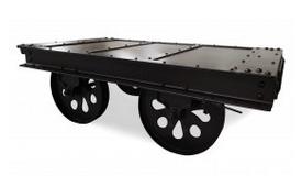 Table de salon industrielle avec roues - Graham