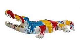 Statue multicolore crocodile - Bal