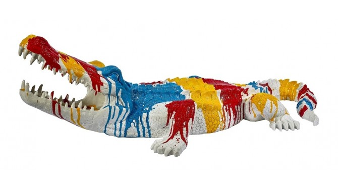 Statue multicolore crocodile - Bal