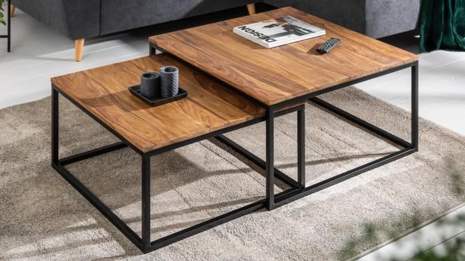 Table basse design bois gigogne - Moana