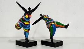 Lot de 2 statues design femme - Joy
