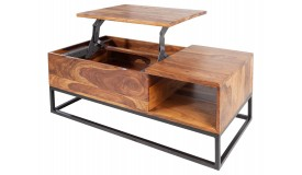 Table basse bois plateau relevable - Boris