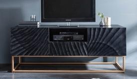Meuble TV design façade sculptée - Piran