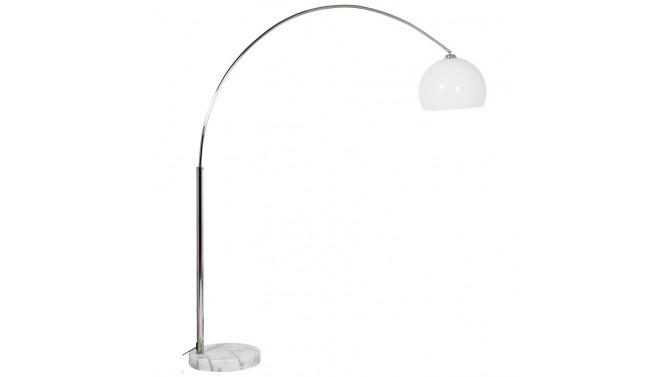 Lampe arc avec socle en pierre marbrée - Curve XL