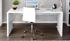 Grand bureau design laqué blanc - Corey