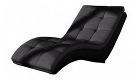 Chaise longue fauteuil relax tissu simili cuir - Kan