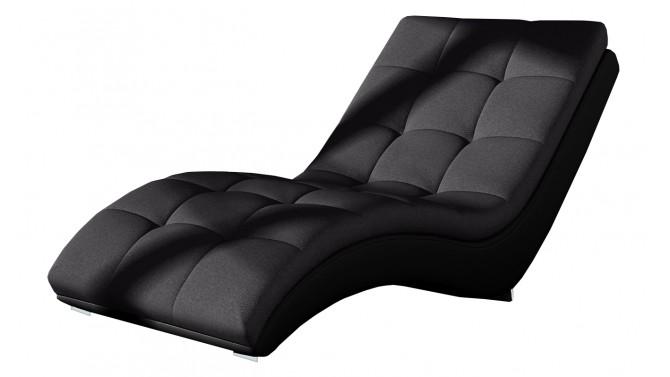 Chaise longue relax tissu et simili cuir - Kan