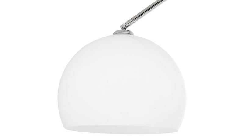 Lampadaire arc Curve XL en métal avec abat jour de couleur