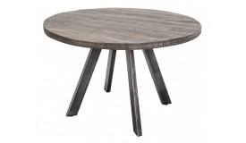 Table ronde industrielle en bois - Peter
