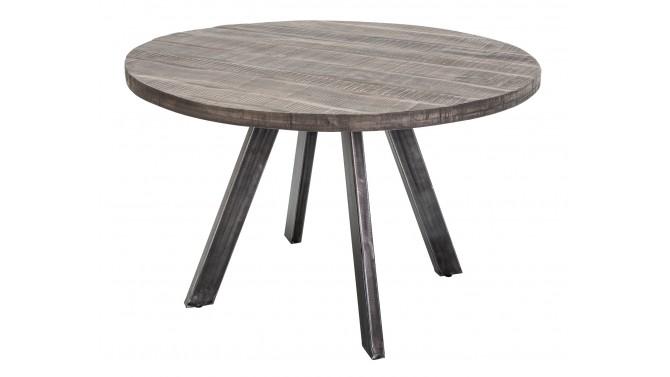 Table à manger industrielle ronde bois - Peter
