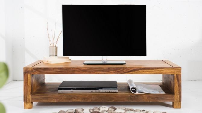 Meuble télé moderne bois massif - Fulrad