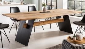 Table rectangulaire de repas en bois - Arvid