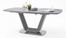 Table à dîner céramique gris foncé - Amos