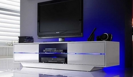 Meuble TV contemporain design LED - Mattia