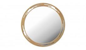 Miroir contemporain en métal doré - Rosa
